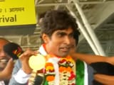 Video : Paralympic Gold Medallist Pramod Bhagat Receives Grand Welcome At Bhubaneswar Airport