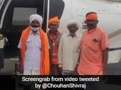 Four Tribals' First Flight Is On Shivraj Singh Chouhan's Official Chopper
