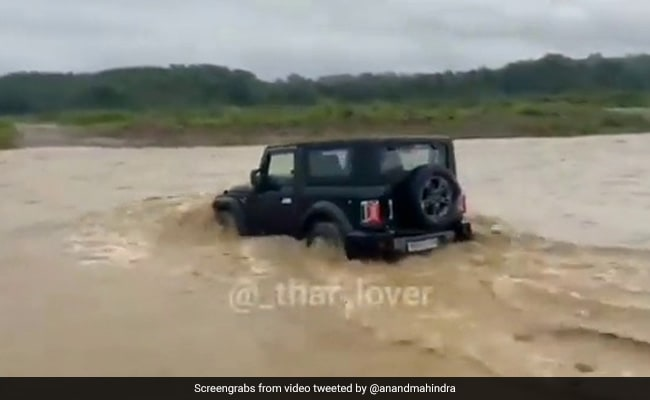 After Bolero In Water, Anand Mahindra Shares Video Of Thar Crossing River