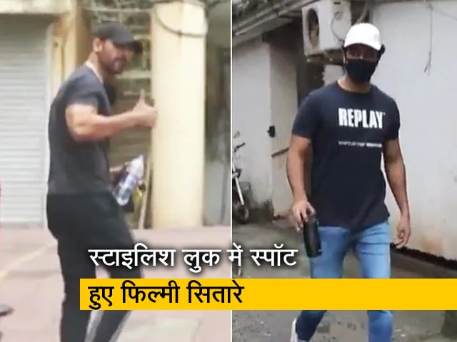 Video : जॉन अब्राहम, रोहित शेट्टी, विक्की कौशल मुंबई में स्टाइलिश लुक में हुए स्पॉट
