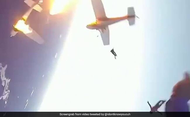 Pilot, Passengers Jump To Safety As Planes Collide. Old Video Is Viral Again