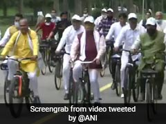 Watch: On World Car-Free Day, Haryana Chief Minister Rides Bicycle
