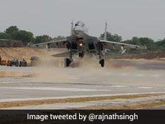 """""""Given A Message"""": Rajnath Singh On Emergency Landing Strip Near Border"""