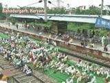 Video : Amid 'Bharat Bandh', Farmers Block Rail Tracks In Haryana