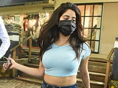 Janhvi Kapoor's Day Out Is Incomplete Without Her Crop Tops And Her Rs 73K Louis Vuitton Sneakers