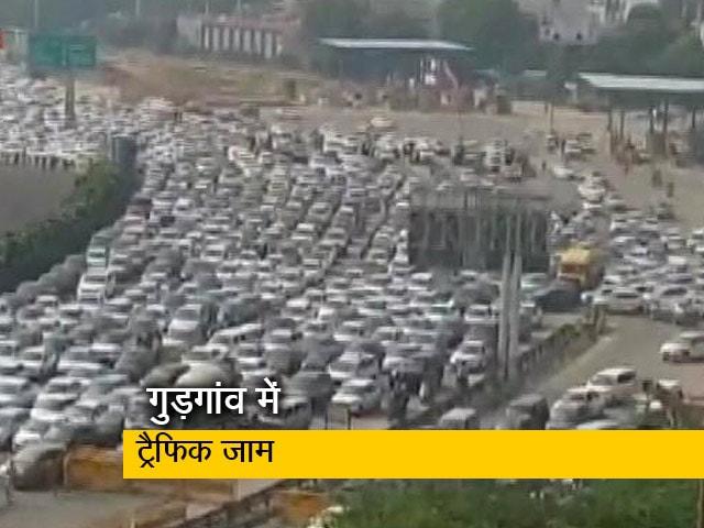 Video : भारत बंद की वजह से कई सड़कें बंद, गुड़गांव में ट्रैफिक जाम