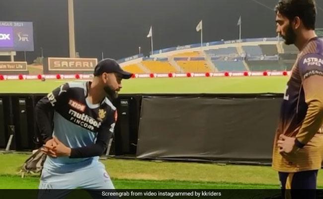 IPL 2021 Virat Kohli shares batting tips with KKR debutant Venkatesh Iyer, video goes viral on social media Watch video