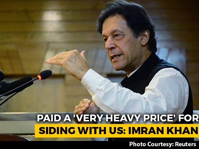 """Video : Paid A """"Very Heavy Price"""" For Siding With US In Afghanistan: Imran Khan"""