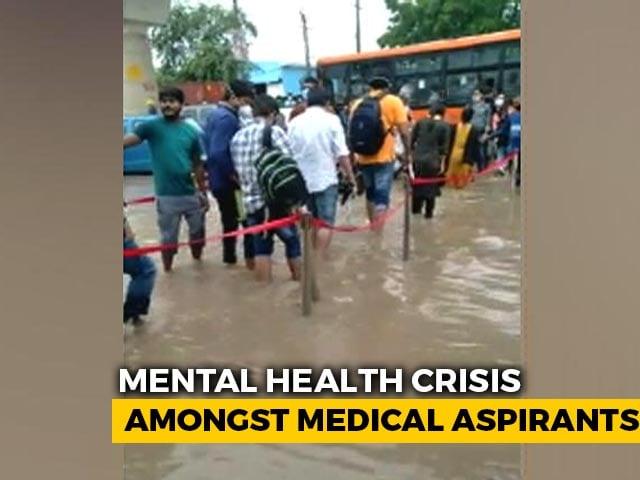 Video : Delhi Medical Aspirants Miss NEET Exam Due To Bad Weather