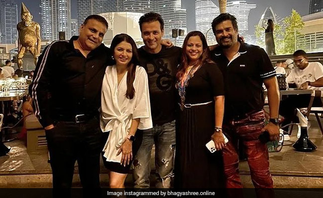 Pics From Madhavan, Bhagyashree And Rohit Roy's 'Night To Remember' In Dubai