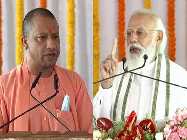 "Video : PM Praises Yogi Adityanath: ""Double-Engine Government's Double Benefits"""