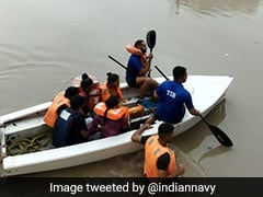 Indian Navy Team Deployed To Assist Flood Relief Ops In Rajkot