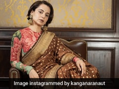 When Kangana Ranaut Wears A Floral Sabyasachi <i>Saree</i>, You Just Know It's Going To Turn Heads