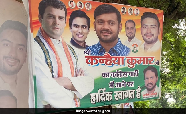 Kanhaiya Kumar In 'Welcome To Congress' Posters Ahead Of Joining Today