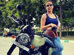 Actor Gul Panag Brings Home The Jawa Forty Two