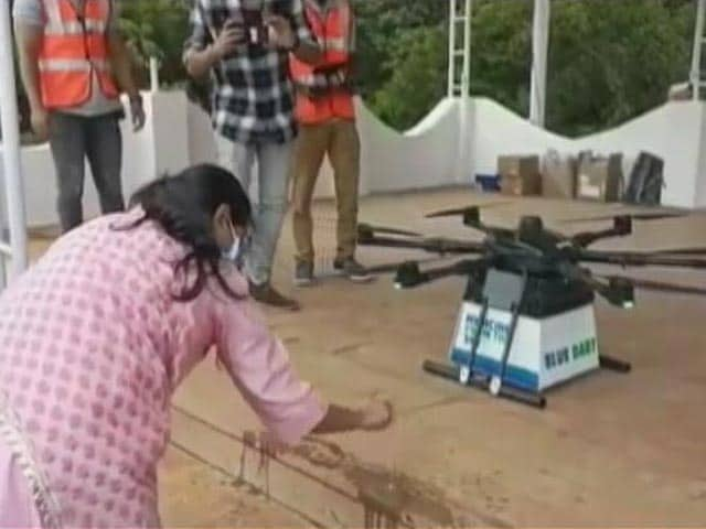 Video : In A First, Telangana To Use Drones To Deliver Vaccines To Remote Corners