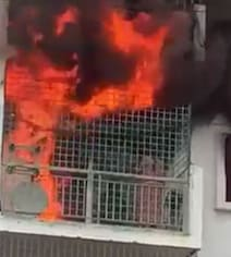 Bengaluru Woman Dies In Apartment Fire. Horrific Video Shows Her Trapped