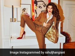 Jacqueline Fernandez's Pantsuits Are Only Complete With Her Rs 58K Christian Louboutin Heels