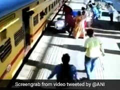 Video: Woman Slips Trying To Board Moving Train, Passengers Rescue Her