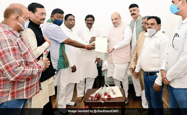Jharkhand's All-Party Delegation Meets Amit Shah, Demands Caste Census