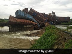 Goods Train Derails, At Least 9 Wagons Fall Into River In Odisha