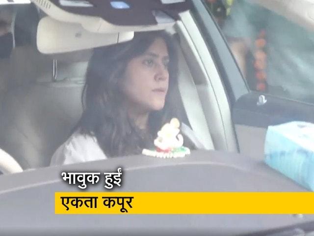 Videos : एकता कपूर और राहुल वैद्य ने भावुक होकर की गणपति बप्पा की विदाई