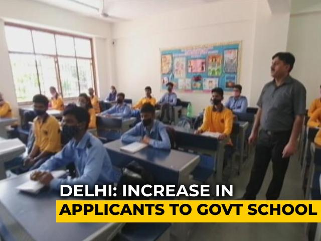 Video : Delhi Government Schools Witness An Increase In Applications