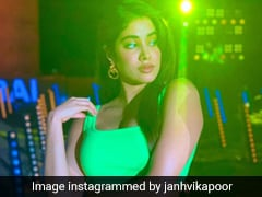 Janhvi Kapoor Is As Bright As A Neon Light In A Ribbed Green Co-Ord Set