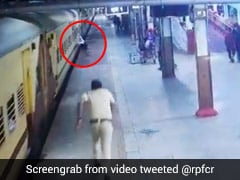 Hero Constable Saves Man From Falling Under Train At Nagpur Rail Station