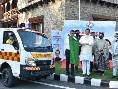 Hero MotoCorp Hands Over Ambulances To Uttarakhand Chief Minister