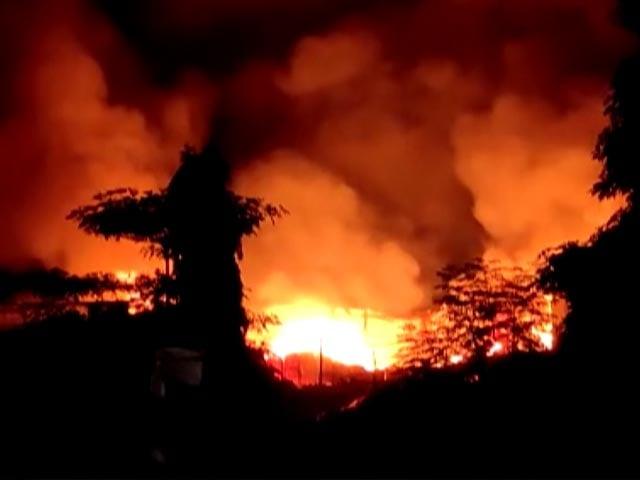 Video : Massive Fire Breaks Out At Scrapyard In Mumbai