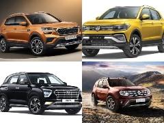 Volkswagen Taigun vs Skoda Kushaq vs Kia Seltos vs Hyundai Creta vs Renault Duster vs Nissan Kicks: Price Comparison