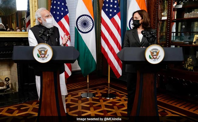 """""""Gratitude For Help In Covid 2nd Wave"""": PM After Kamala Harris Meet"""