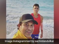 """SON"", Sand And Surf: Sachin Tendulkar Posts Beach-Side Photo With Arjun"