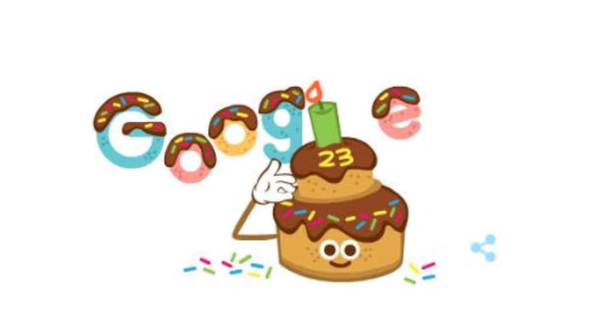 Happy Birthday Google: आज 23 साल का हो गया Google, बर्थडे केक के साथ पेश किया खास Doodle