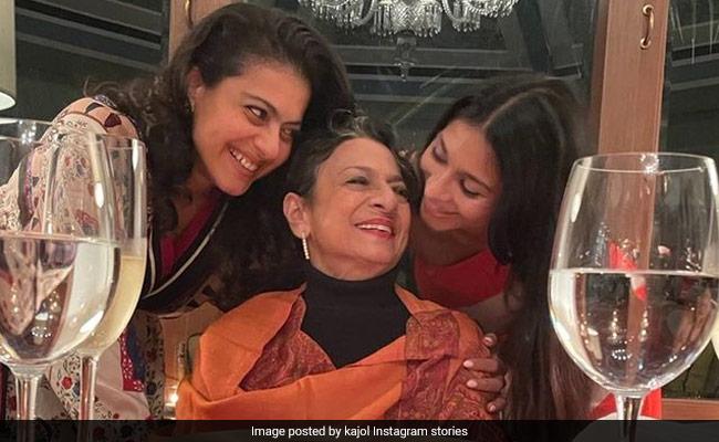 From Tanuja's Birthday Festivities With Kajol And Tanishaa
