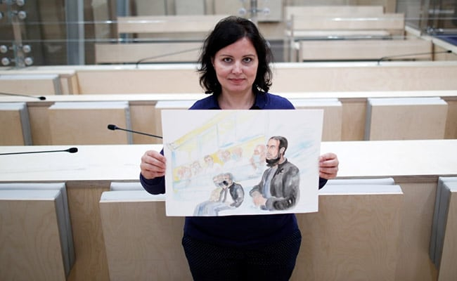 French Court Artist Stares Into The Eyes Of An ISIS Terrorist