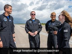 """""""No Jitters"""": SpaceX's First All-Civilian Crew Set For 3-Day Trip To Space"""