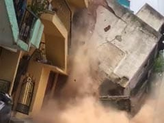 On Camera, Bengaluru Building Comes Crashing Down