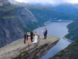 Video : A Wedding To Remember: Couple Holds Ceremony On Cliff Edge