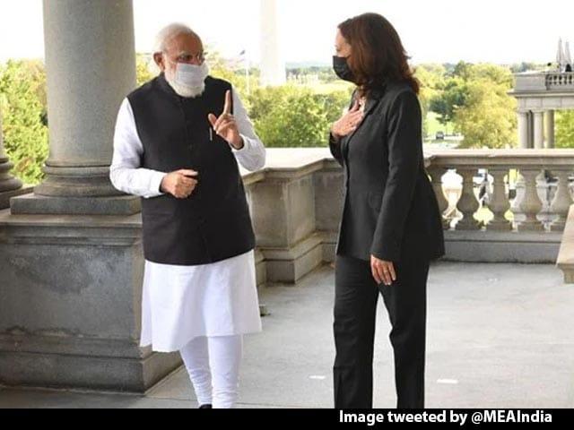Video : At Meet With PM Modi, Kamala Harris Talks Of Pak's Role In Terror