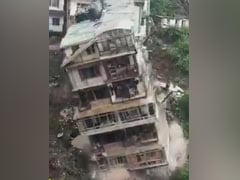 Watch: 8-Storey Building Collapses Due To Landslide In Shimla
