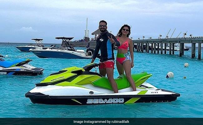मालदीव में यादें बनाने में व्यस्त हैं रुबीना दिलाइक और अभिनव शुक्ला