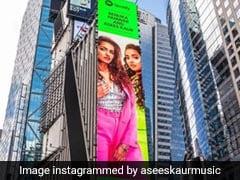 न्यूयॉर्क की बिल्डिंग पर रेणुका पवार का पोस्टर, असीस कौर ने फोटो किया शेयर...देखें Photos