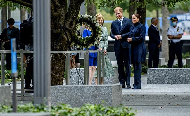 Prince Harry, Meghan Markle Visit New York 9/11 Memorial