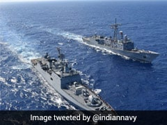 Indian Naval Frigate, Egyptian Warship Conduct Maritime Partnership Drill