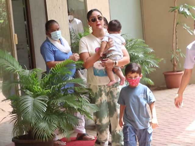 Video : Kareena Kapoor Steps Out With Her Boys