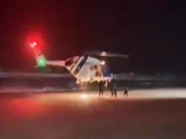 Video : Watch: Coast Guard Rescues Crew Of Sinking Vessel In Diu