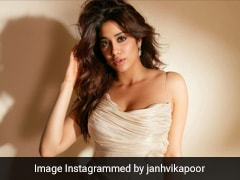 Janhvi Kapoor Gives A Little Black Dress A Miss For A Pretty Pearly White Ruched Dress