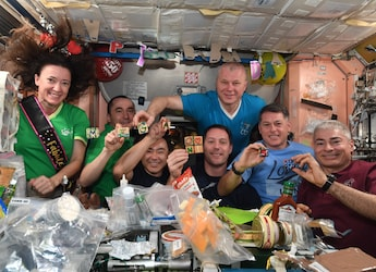NASA Astronaut's 50th Birthday In Space Had Cake, Cookies And Mexican Food